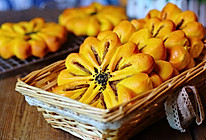 南瓜花型面包的做法