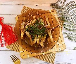 #肉食者联盟#姜葱蒸鸭舌头的做法