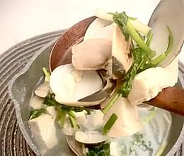 鲜甜沙白豆腐汤的做法