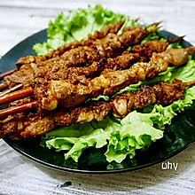 红柳枝羊肉串#美的烤箱菜谱#