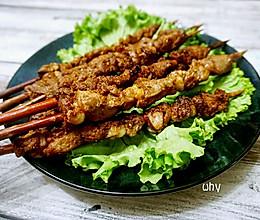 红柳枝羊肉串#美的烤箱菜谱#的做法