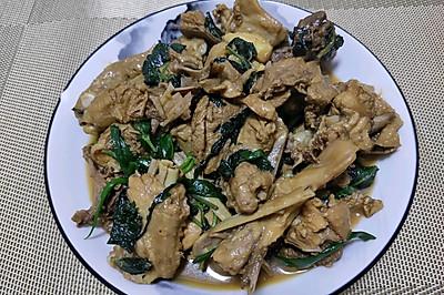 紫苏炒鸭子