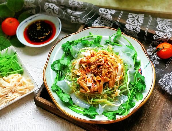 #春天肉菜这样吃#凉拌鸡丝粉皮的做法