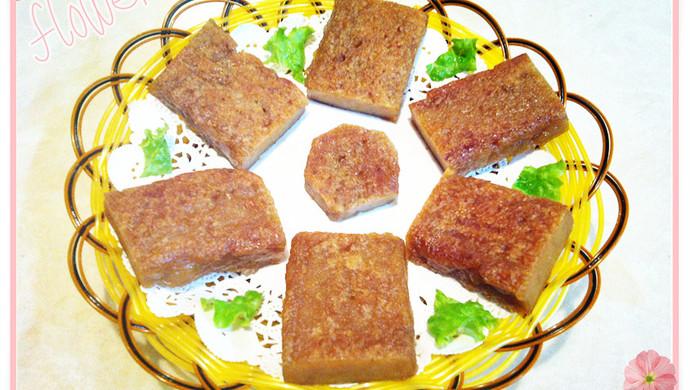 自制红糖糯米年糕