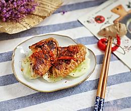 最简单的鸡翅便当:香辣脆皮鸡翅,一腌一煎搞定的做法