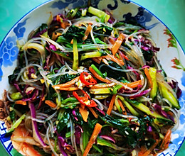 凉拌粉丝菠菜的做法