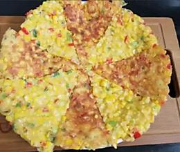 纯娱乐,非常简单的家庭小披萨哈哈!给孩子吃。的做法