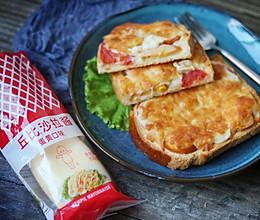 #丘比三明治#玛格丽特吐司披萨的做法