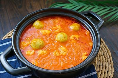番茄虾滑粉丝煲