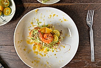 黄桃蔬果面包虾(原创)的做法