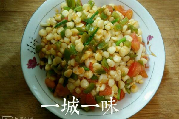 玉米青椒【粗粮减肥】的做法