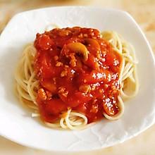 蘑菇肉糜番茄罗勒意面