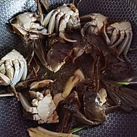 螃蟹炒年糕的做法图解3
