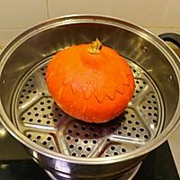 #轻食系王者#红豆糯米南瓜盅的做法图解7