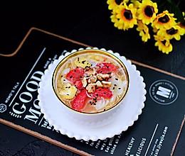 #带着美食去踏青#百合草莓酒酿鸡蛋羹的做法