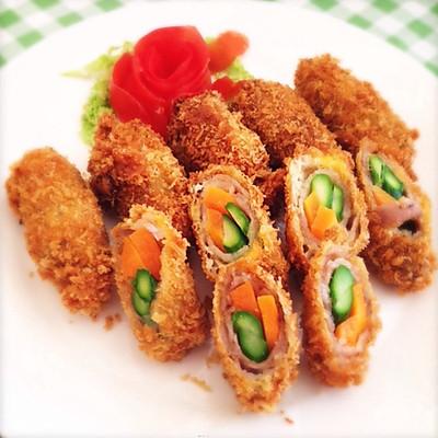 彩色蔬菜卷