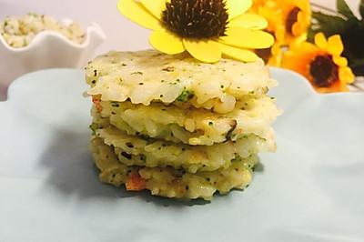 虾仁西兰花香菇米饼