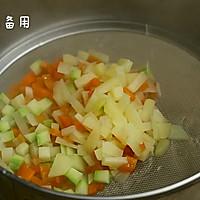 三文鱼杂蔬蒸糕的做法图解5