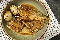 #中秋团圆食味#小姨妈黑腐竹辣焖黄花鱼的做法