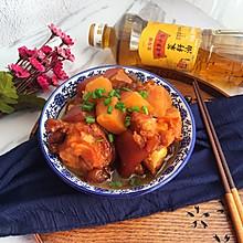 紅燒豬蹄燉土豆#金龍魚外婆鄉小榨菜籽油,我要上春碗#