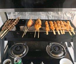 家庭烧烤厨房炭烤羊肉串韩式烤肉中式烤串的做法