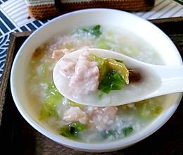 香菇青菜肉片粥的做法