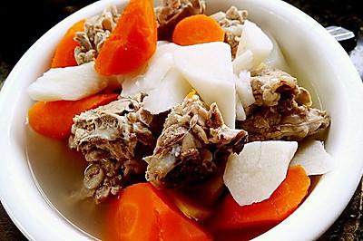 李孃孃爱厨房之一一排骨炖山药、胡萝卜汤