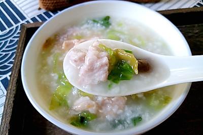 香菇青菜肉片粥