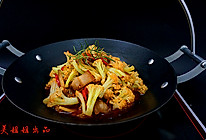干锅香辣花菜的做法