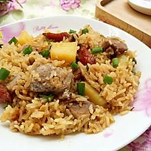 土豆香芋腊肠焖饭#美的初心电饭煲#