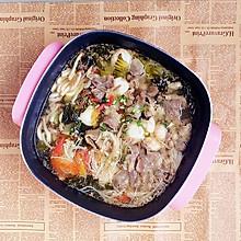 酸菜肥牛金针菇火锅#利仁火锅节#