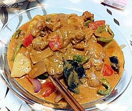 浓浓泰国风马沙文咖喱鸡的做法