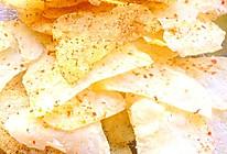 微波炉版无油健康薯片的做法