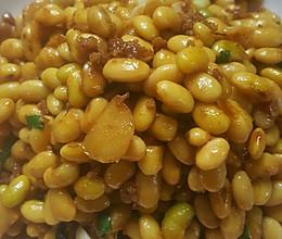肉末炒黄豆的做法