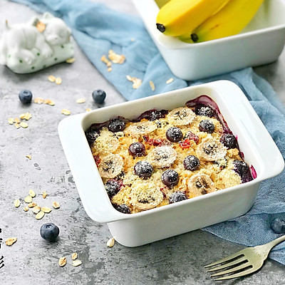 香蕉蓝莓烤燕麦片