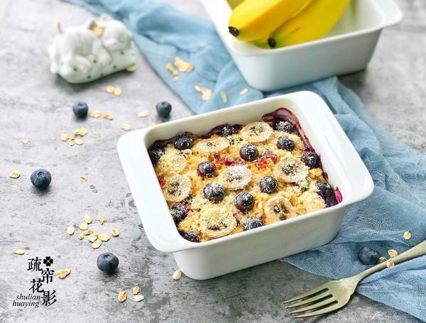 香蕉蓝莓烤燕麦片的做法