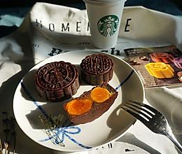 巧克力莲蓉双黄月饼—星巴克月饼的创新的做法