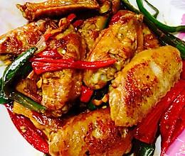 香煎青红椒鸡中翼