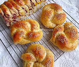 #爱好组-高筋#花式全麦面包+紫薯面包的做法