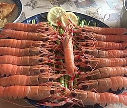 深海海鳌虾刺身的做法