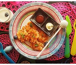 适合宝宝的三文鱼米饼【三文鱼主题】的做法