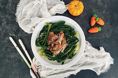 豆豉鲮鱼炒油麦菜