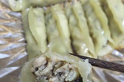 水煎香菇猪肉锅贴