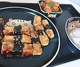 照烧海苔豆腐卷的做法
