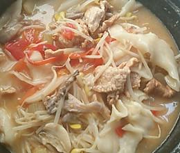 懒人酸辣面片汤的做法