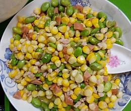 玉米青豆火腿肠的做法