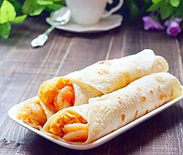 鲜虾鸡蛋卷饼~美味卷起来的做法