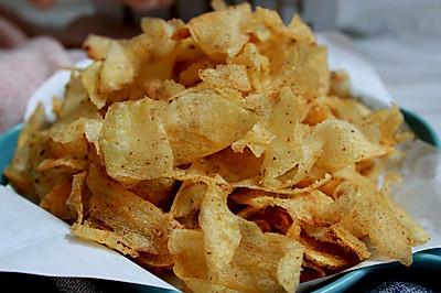 【健康美味】自制薯片