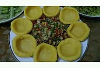 玉米馍馍配杏鲍菇时蔬的做法