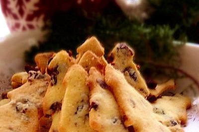 蔓越莓圣诞树饼干